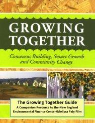 The Growing Together Guide - New England Environmental Finance ...