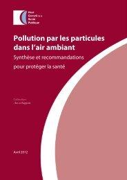 Pollution par les particules dans l'air ambiant - Air COM