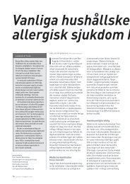 Vanliga hushållskemikalier och allergisk sjukdom hos barn