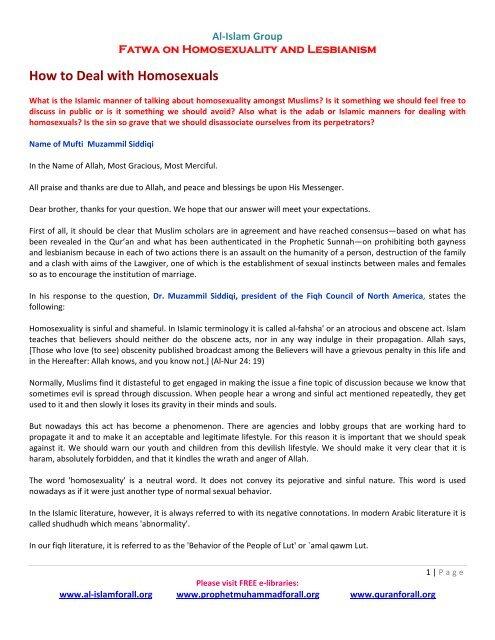 dr. muzammil siddiqi homosexuality