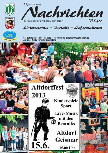 Nachrichtenblatt Juni/Juli 2013 - Werbegemeinschaft Geismar ...