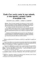 Etude d'un vaccin contre la rage animale, à virus inactivé ... - OIE