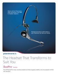 The Headset That Transforms to Suit You - Plantronics