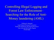 World Bank Initiative on Money Laundering and Illegal ... - Inece