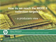 How do we reach the WEEE II collection targets? A Producers View ...