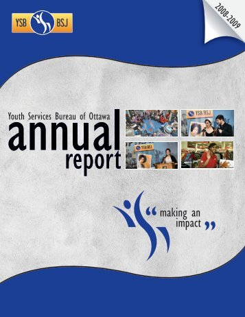 YSB Annual Report 2008-2009 - Youth Services Bureau