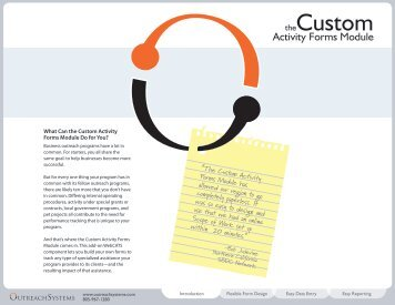Custom Forms - OutreachSystems.com