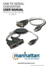 USB TO SERIAL CONVERTER USER MANUAL