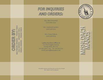 baltimore orders - frida y feb 8 usa orders - monda y feb 4 israel ...