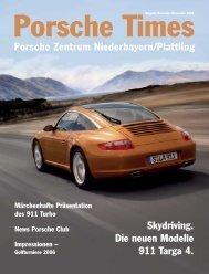 Skydriving. Die neuen Modelle 911 Targa 4. Porsche Zentrum ...