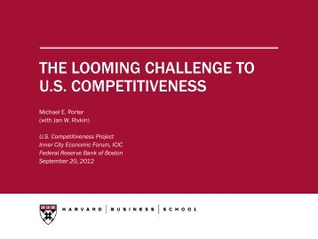 the looming challenge to us competitiveness - Initiative for a ...
