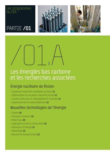 CEA - Les énergies bas carbone et les recherches associés