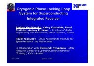 Cryogenic Phase Locking Loop System for Superconducting ...