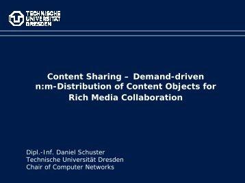 Content Sharing - Technische Universität Dresden