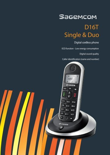 D16T Single & Duo - Sagemcom Digital