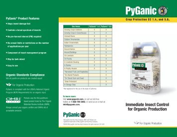 Immediate Insect Control for Organic Production