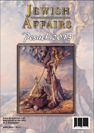 Cover - Pesach 2013.cdr - South African Jewish Board of Deputies