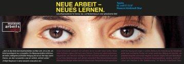 NEUE ARBEIT – NEUES LERNEN. - Neue Arbeit – Neue Kultur