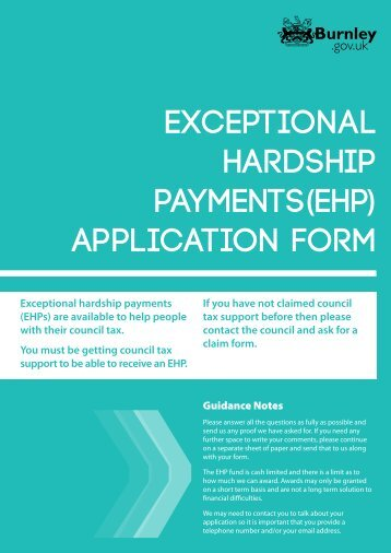 Exceptional Hardship Payments(EHP) - Burnley Borough Council