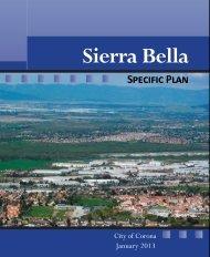Sierra Bella Specific Plan - City Of Corona