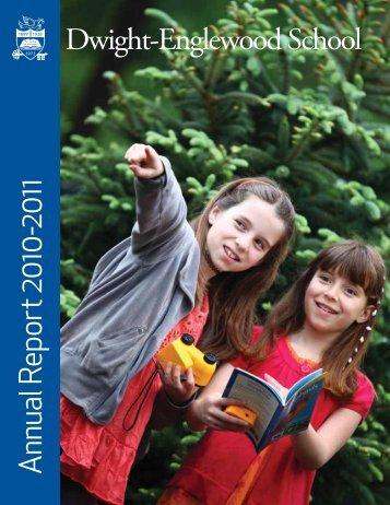 A nnual Report  2010-2011 - Dwight-Englewood School