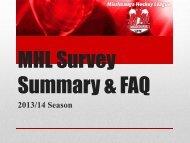 MHL Survey 2013-14 Summary with FAQ