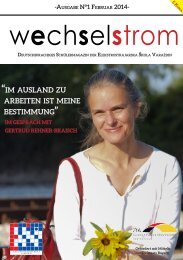 wechselstrom - Ausgabe No°1 Februar 2014