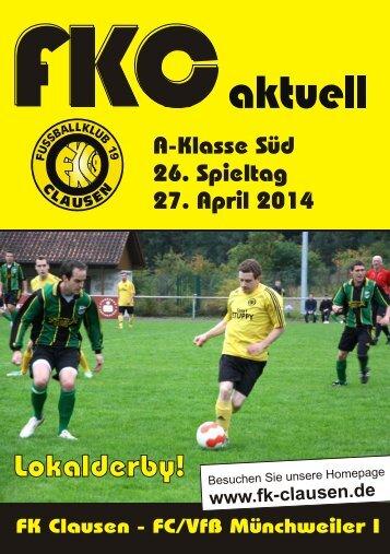 FKC Aktuell - 26. Spieltag Saison 2013/2014