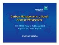 Carbon Management: a Saudi Aramco Perspective