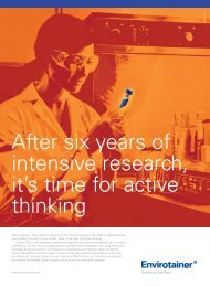After six years of intensive research, it's time for active ... - Envirotainer