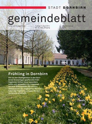 Dornbirner Gemeindeblatt KW 15 vom 11.04.2014