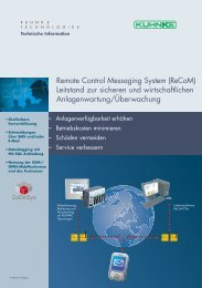 Remote Control Messaging System (ReCoM) Leitstand zur ... - Kuhnke