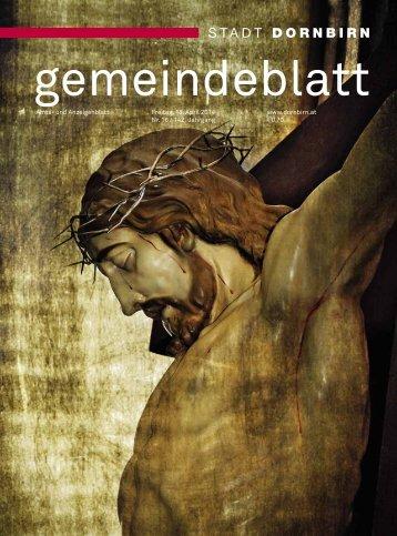 Dornbirner Gemeindeblatt KW 16 vom 18.04.2014