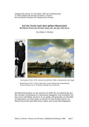 Prousts Vermeer - Dieter E. Zimmer