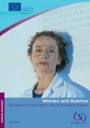 Excellence and Innovation - Gender Equality in Science - European ...