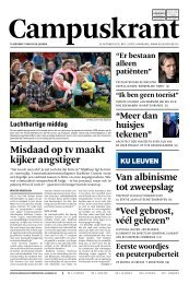 Misdaad op tv maakt kijker angstiger - KU Leuven