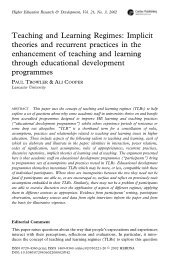 Teaching and Learning Regimes: Implicit theories and ... - KU Leuven