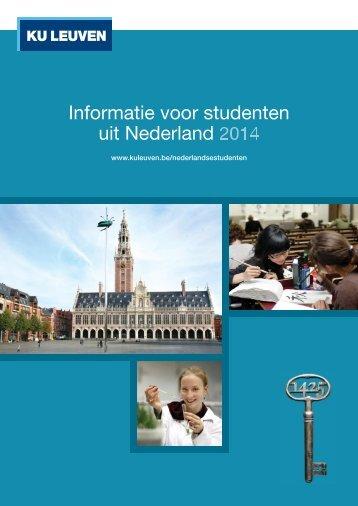 Informatie voor studenten uit Nederland 2013-2014 - KU Leuven