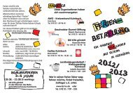 Ferienbetreuung 2012 /13 - Kreisjugendring Kulmbach
