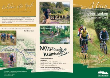 Flyer MTB-Touren Kulmbach mit Anmeldeabschnitt