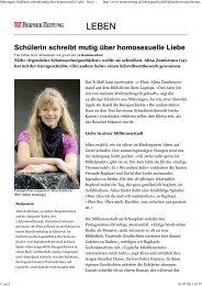 Schülerin schreibt mutig über homosexuelle Liebe - Die Kultessen