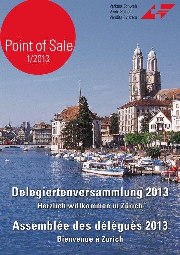 """Verkauf Schweiz """"Point of Sale 1/2013"""""""