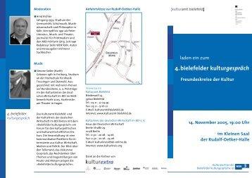 Kulturgespr−ch 5.10.05 - Kulturamt Bielefeld