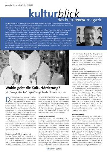Ausgabe 3 Herbst/Winter 2002/2003 - Kulturamt Bielefeld