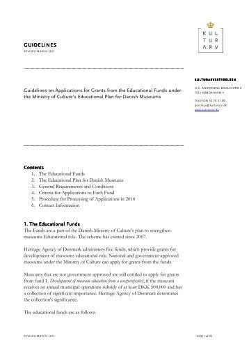 Vejledning til formidlingspuljerne 2011FINAL18_en-UK