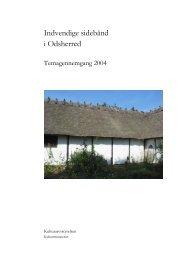 Indvendige sidebånd i Odsherred (PDF-format) - Kulturstyrelsen