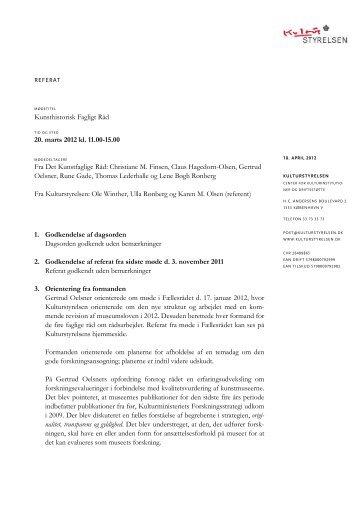 Referat d. 20 marts 2012 - Kulturstyrelsen