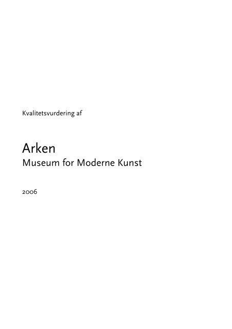 Arken - Rapport- feb 08 - Endelig