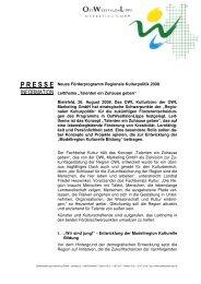 Neues Leitthema für das Förderprogramm Regionale Kulturbildung