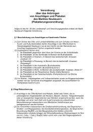 Plakatierungsverordnung - Neubeuern